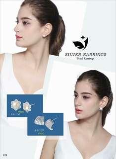 Stud Earrings Silver 925