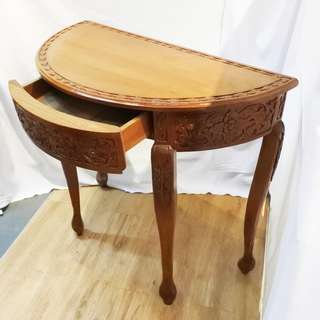 Antique Side Table in Teakwood (Refurbished)