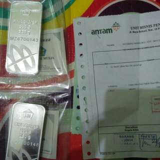 LM PERAK BATANGAN ANTAM 250 GRAM