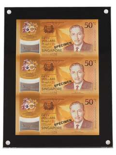 ✳️ Singapore CIA 3-in-1 Uncut Notes [SG-02]
