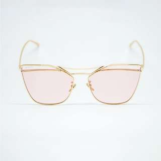 No Ordinary Kendall Gold Frame with Pink Tinted Lens Shades