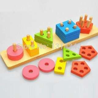 Five-shape geo board