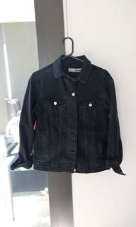 TOPSHOP OVERSIZED DENIM JACKET size UK 6