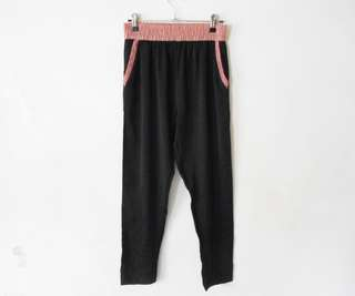 Black and pink trousers