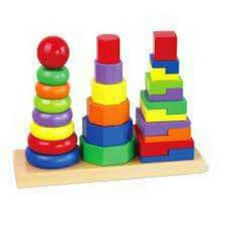 Large sorting and stacking board
