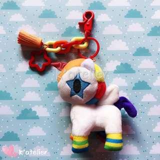 Tokidoki Unicorno Plush Keychain- Bowie