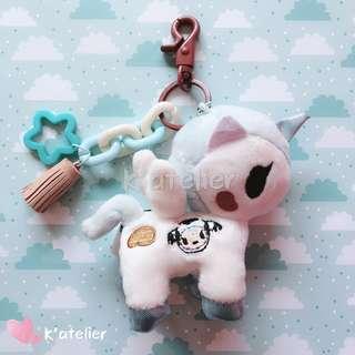 Tokidoki Unicorno Plush Keychain- Mooka