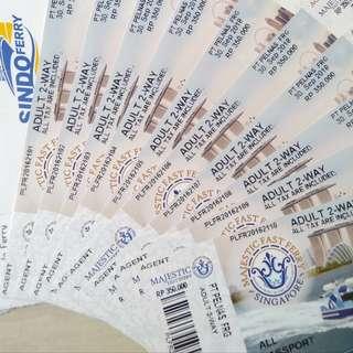 Batam physical Ferry tickets