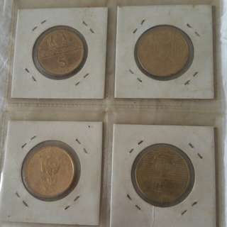 Rm 5 in coins 1972