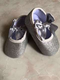 Glitter baby shoes