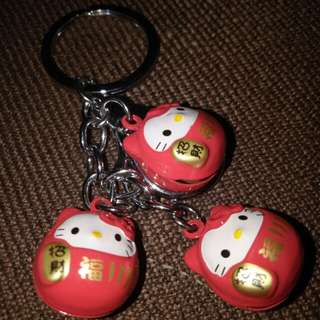 Lucky Charms Bells Hello Kitty Pink Keychain
