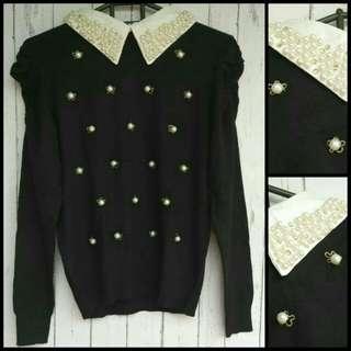 Sweater Kemeja Mutiara Import