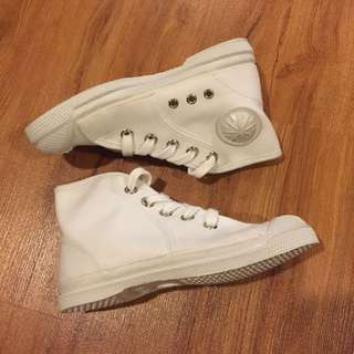 White High Cut Toddler Shoes