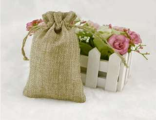 13 *10 cm  Jute Drawstring Gift package Storage Bags For Coffee Beans Great Gifts Stylish Reusable Bag