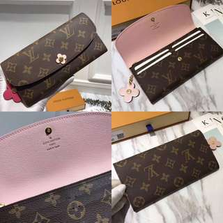 REPRICED - NEW LOUIS VUITTON EMILIE WALLET BLOOM (LIMITED EDITION)🌸🌸🌸 | Dompet panjang LV edisi special 🌸 KUALITAS TRIPLE AAA - serious buyer masih bisa nego!!