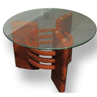 Art Deco Antique Glass top Coffee Table (Refurbished)