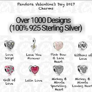 Over 1000 Designs (925 Sterling Silver) To Choose From, Compatible With Pandora, T24