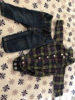 Carter's jeans set NB