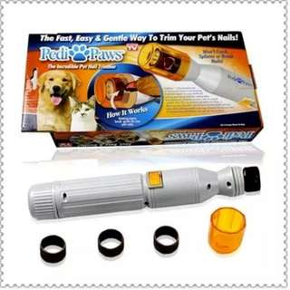 Pet paw nail trimmer buffer