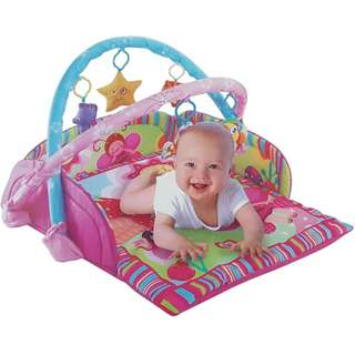 I-baby softy cotton playing mat with toys AB49794 rosepink