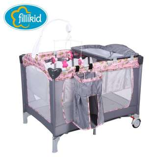 Fillikid 1st playpen baby portable grib w/accessories-TF03