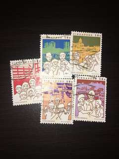 Singapore Stamps(OLD) 5pc Set