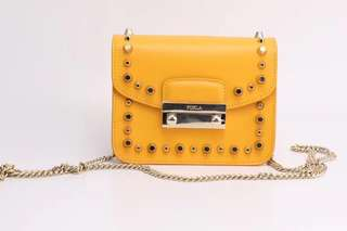 Furla Julia Studded Bag - yellow