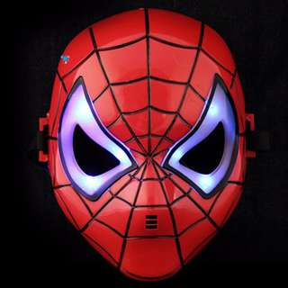 Superheroes Cosplay Anime Mask with LED -Spiderman