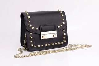 Furla Julia Studded Bag - black