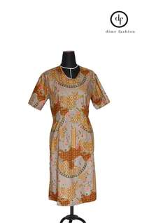 Batik brown dress