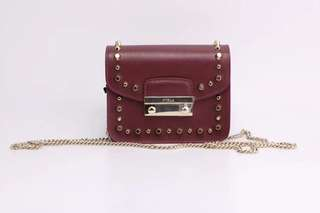 Furla Julia Studded Bag - maroon