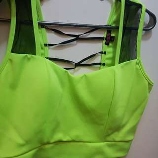 Plus Size Club top 2x lime green
