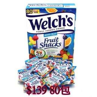 美國Welch's果汁軟糖(80小包/盒) 5月中到貨