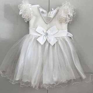 White Ball Gown Dress 1-3yrs