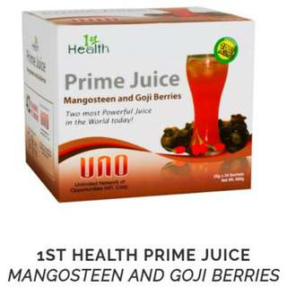 1st Health Prime Juice with mangosteen and goji berries (Buy1Take1)