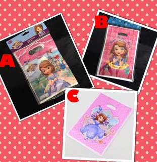 💕 Sofia Party supplies - Sofia loot bags / piñata bags / goodie bags / party Bags