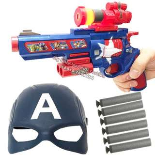 Captain America Bullet Gun with Mask Playset