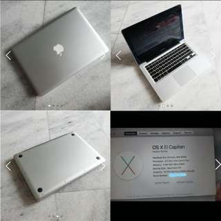 Laptop macbook  pro 13 inch 2010