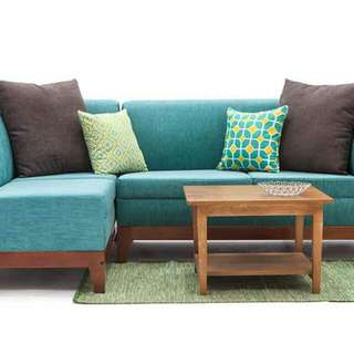 Sofa L putus + meja
