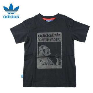 PreOwned ADIDAS ORIGINALS STAR WARS DARTH VADER Kids Tee Shirt UK18-24M