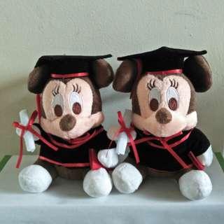 Mickey Mouse graduation bear