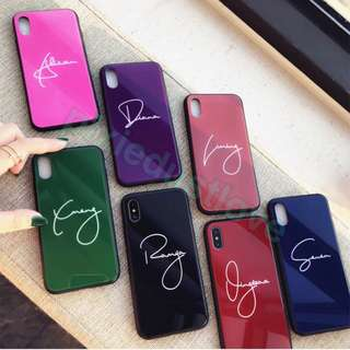 customised name Tempered glass phone casing