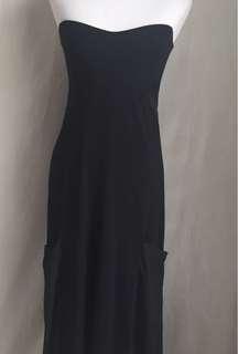 ASOS Black Tube Maxi Dress