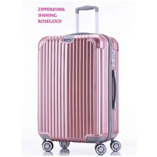 Two pcs Rimowa similar-look travel luggage 24inches zipper frame& 20inches zipper frame#1006