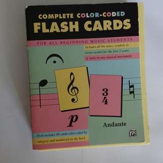 The complete set of 89 Music Flash Cards