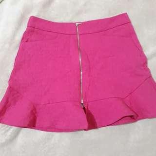 ZARA neon pink trafaluc collection skirt