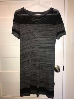 H&M gray t-shirt dress