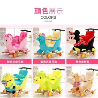 Baby/Toddler/Kid Stroller, Push Car, Walker cum Cartoon Rocking Chair with music