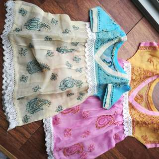 Entricate embroidery baby frocks