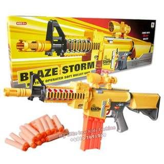 Blaze Storm Electric Semi Auto Soft Bullet Dart Long Gun Nerf Style